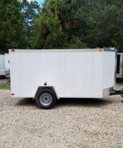 5x10 SA Trailer - White, Double Doors, No Side Door