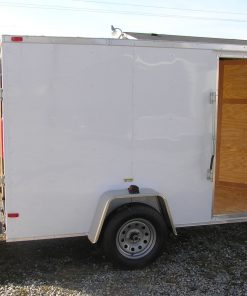 5x10 SA Trailer - White, Ramp, Side Door, Extra Height