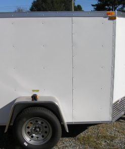 5x6 SA Trailer - White, Double Doors