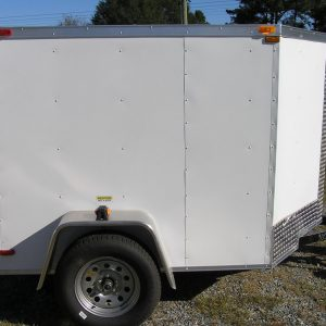 5x6 SA Trailer - White, Double Doors