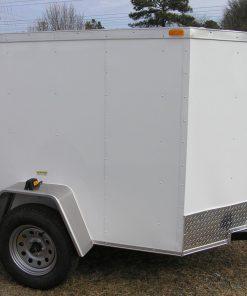 5x6 SA Trailer - White, Ramp