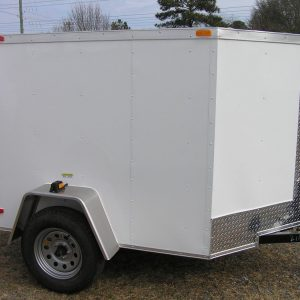 5x6 SA Trailer - White, Ramp