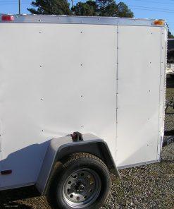 5x6 SA Trailer - White, Single Door