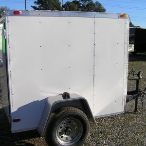 5x6 SA Trailer - White, Single Door