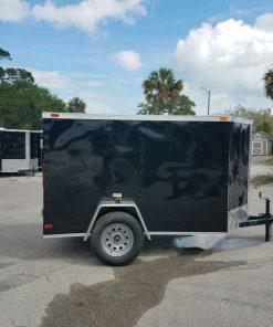 5x8 SA Trailer - Black, Double Doors