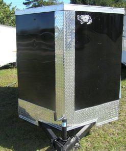 5x8 SA Trailer - Black, Single Door