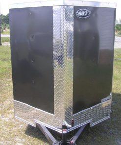 5x8 SA Trailer - Charcoal Gray, Double Doors, Side Door, Extra Height, Generator Box