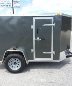 5x8 SA Trailer - Charcoal Gray, Ramp, Side Door