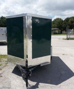 5x8 SA Trailer - Green, Ramp, Side Door