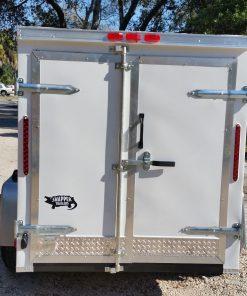 5x8 SA Trailer - White, Double Doors