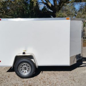 5x8 SA Trailer - White, Double Doors