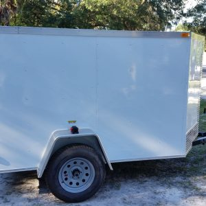 5x8 SA Trailer - White, Single Door