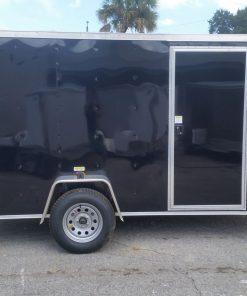 6x12 SA Trailer - Black, Ramp, Side Door, and D-Rings