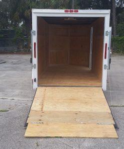 6x14 SA Trailer - White, Ramp, Side Door