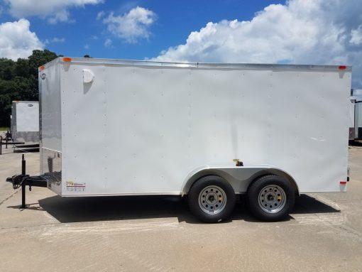 6x14 TA Trailer - White, Double Doors, Side Door