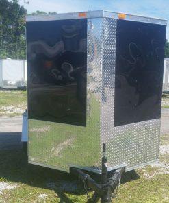 6x8 SA Trailer - Black, Ramp, Side Door