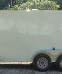 7x12 TA Trailer - White, Ramp, Side Door