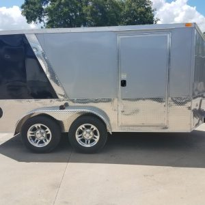 7x12 TA Trailer - SilverBlack, Torsion Axles, E-Track, Reduced Height, Additional Options