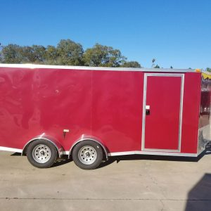 7x16 TA Trailer - Brandywine, Ramp, Side Door, Split Axles