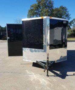 7x16 TA Trailer - Black, Ramp, Side Door, Split Axles
