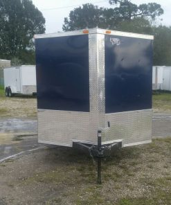 7x16 TA Trailer - Blue, Ramp, Side Door