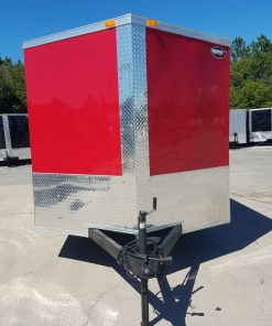 7x16 TA Trailer - Red, Concession, Electrical, Finished Interior, Options