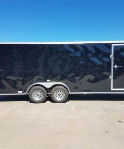 7x20 TA Trailer - Black, Ramp, Side Door, Extra Ventilation