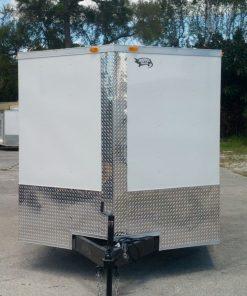 7x20 TA Trailer - White, Ramp, Side Door