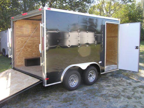 8.5x12 TA Trailer - White, Ramp, Side Door