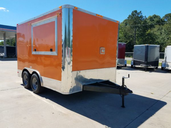 8.5x12 TA Trailer - Orange, Electrical, Finished Interior, Additional Options