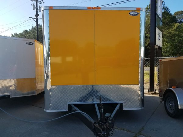 8.5x12 TA Trailer - Yellow, 5K Axles, Extra Height, Concession, Additional Options