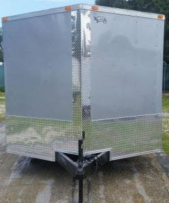 8.5x16 TA Trailer - Silver Frost, Ramp, Side Door, ATP Wrap, D-Rings