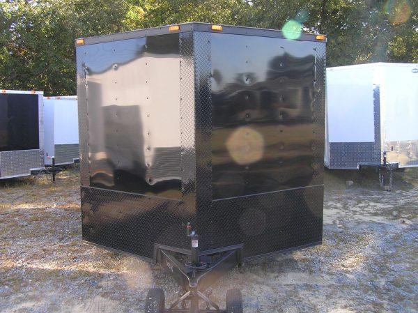8.5x18 TA Trailer - Black, Ramp, Side Door, Blackout