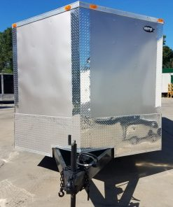 8.5x18 TA Trailer - Champagne, Ramp, Side Door, Extended Tongue, ATP Wrap, LED Lighting