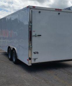 8.5x18 TA Trailer - White, Ramp, Side Door