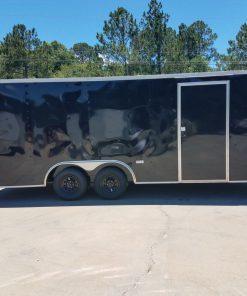 8.5x20 TA Trailer - Black, Ramp, Two Side Doors