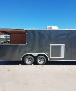 8.5x20 TA Trailer - Charcoal, Concession, Porch, AC, and More