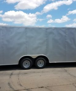 8.5x20 TA Trailer - Silver Frost, flat Front, Electric, Escape Door