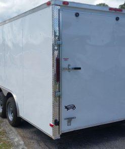8.5x20 TA Trailer - White, Ramp, Side Door