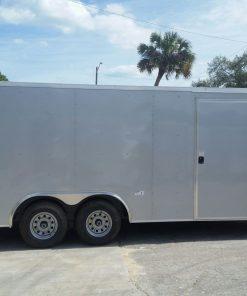 8.5x20 TA Trailer - Silver Frost, Ramp, Side Door, 5K Axles