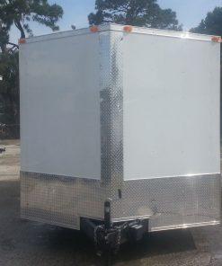 8.5x20 TA Trailer - White, Ramp, Side Door, 5K Axles, Extra Height