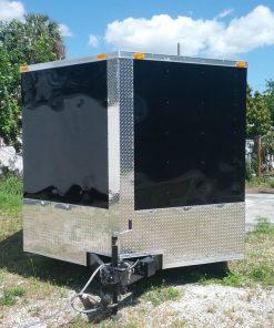 8.5x24 TA Trailer - Black, Ramp, Side Door