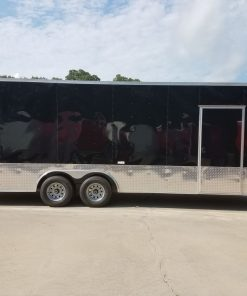8.5x24 TA Trailer - Black, Ramp, Side Door, 5K Axles, Extra Height, Customizations