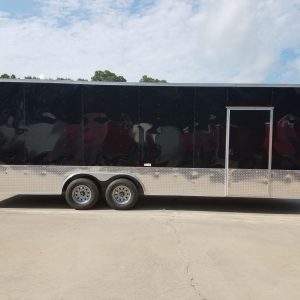 8.5x24 TA Trailer - Black, Ramp, Side Door, 5K Axles, Extra Height, Customizations