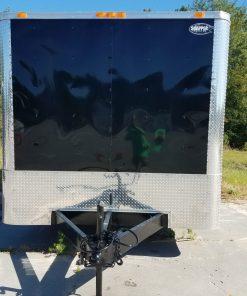 8.5x24 TA Trailer - Black, Ramp, Side Door, 5K Axles, Flat Front, Extra Height
