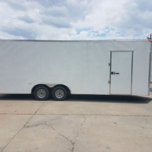8.5x24 TA Trailer - White, Ramp, Extra Height, E-Track, Extended Tongue, Additional Options
