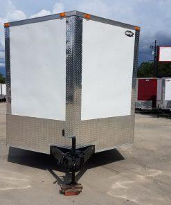 8.5x24 TA Trailer - White, Ramp, Side Door, 5K Axles, Options