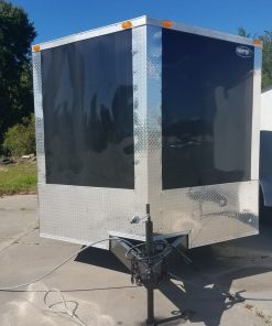 8.5x30 TA Trailer - Black, Electrical, Finished Interior, Cabinets, Additional Options