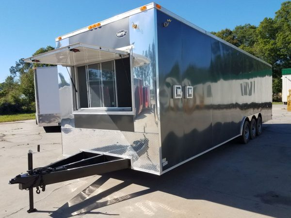 8.5x30 TTA Trailer - Charcoal, Triple 5K Axle, Concession, Heavy Electrical, Options