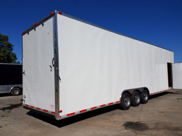 8.5x34 TTA3L Trailer - White Ramp, Side Door, Extra Height